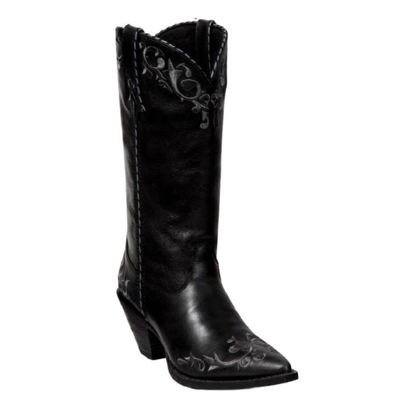 Durango Leather Embroidered Mid Calf Western Boots